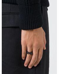 Alexander McQueen | Black Twin Skull Ring for Men | Lyst