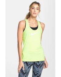 Nike | Green 'pro' Dri-fit Tank | Lyst