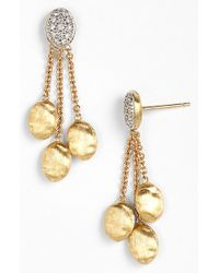 Marco Bicego | Metallic 'siviglia' Diamond Drop Earrings | Lyst
