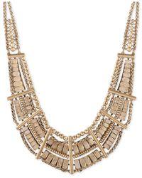 Lucky Brand - Metallic Gold-tone Quartz Drama Necklace - Lyst