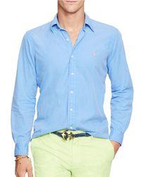Polo Ralph Lauren | Blue Cotton-silk Shirt for Men | Lyst