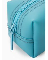 Mango Blue Zip Cosmetic Bag