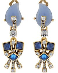 Oscar de la Renta | Metallic Resin & Crystal Earrings - For Women | Lyst