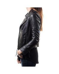 Linea Pelle | Black Moto Jacket | Lyst