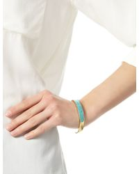 Pamela Love | Metallic Gold Turquoise Solid Inlay Cuff | Lyst