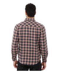 Woolrich - Gray Miners Wash Flannel Shirt for Men - Lyst