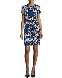 Diane von Furstenberg - Black Zoe Short-sleeve Floral & Polka-dot Dress - Lyst