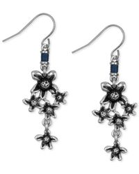 The Sak | Metallic Silver-tone Flower Cluster Drop Earring | Lyst