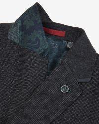 Ted Baker - Black Micro Design Jacket for Men - Lyst
