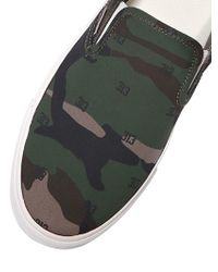 Carhartt - Green Chicago Camo Cotton Slip-on Sneakers for Men - Lyst