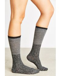 Urban Outfitters | Black Colorblock Two-for Knee High Sock | Lyst