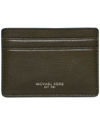 Michael Kors | Green Bryant Card Case for Men | Lyst