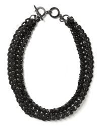 Banana Republic | Gray Woven Curb Chain Necklace | Lyst