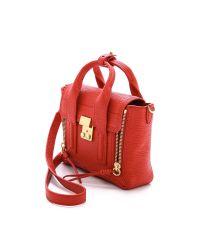 3.1 Phillip Lim Pashli Mini Satchel Red