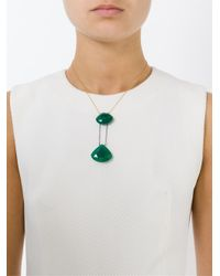 Katerina Psoma - Green Drop Faceted Stone Pendant Necklace - Lyst