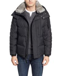 Marc New York | Black By Andrew Marc Quilted Jacket With Genuine Rabbit Fur for Men | Lyst
