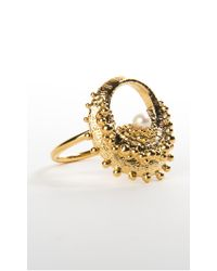 De La Forge | Metallic Echinoidea Gold Ring | Lyst