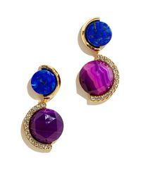 Sarah Magid | Delaunay Drop Earrings, Purple | Lyst