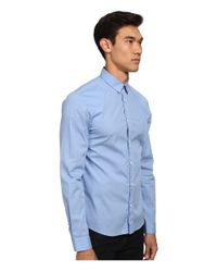 McQ | Blue Harness Long Sleeve Button Up for Men | Lyst
