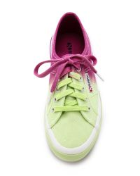 Superga - Green Ombre Sneakers - Lyst