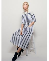 Free People | Blue Mes Demoiselles Womens Marina Maxi | Lyst