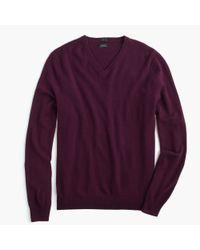 J.Crew - Purple Slim Italian Cashmere V-neck Sweater for Men - Lyst