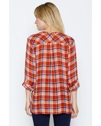 Joie Red Nelia Plaid Shirt