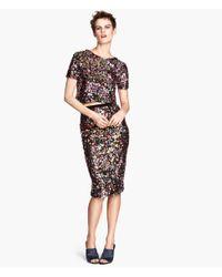 H&M Black Sequined Skirt