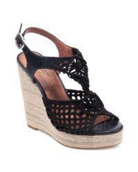 Lucky Brand Black Rilo Platform Wedge Sandals