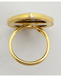 Soixante Neuf - Metallic Gold And Shell Teardrop Ring - Lyst