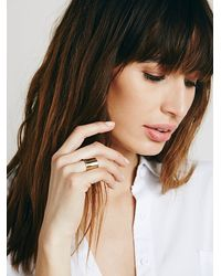 Free People | Metallic Cigar Band Ring | Lyst
