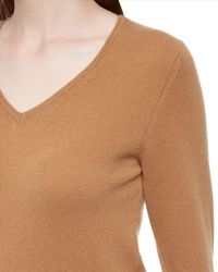 Jaeger - Natural Cashmere V-neck Sweater - Lyst