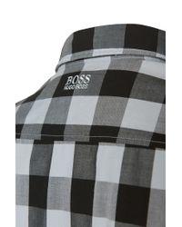 BOSS Green Black 'c-bua' | Regular Fit, Cotton Button Down Shirt for men