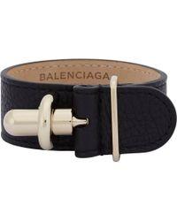 Balenciaga - Black Tube Bracelet - Lyst