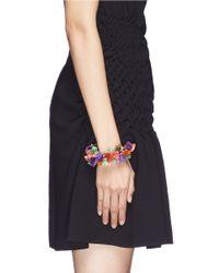 Venna | Multicolor Tassel Pompom Spike Bracelet | Lyst