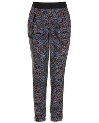 TOPSHOP - Multicolor Maternity Tile Print Jersey Tapered Trousers - Lyst