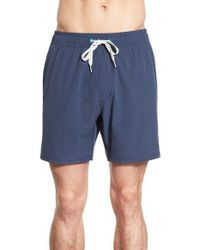 Sperry Top-Sider Blue Top-sider 'do Me A Solid' Swim Trunks for men