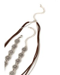 Forever 21 - Brown Southwestern-inspired Necklace Set - Lyst