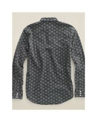 RRL - Gray Star-print Cotton Shirt for Men - Lyst