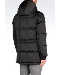 Emporio Armani - Black Down Coat for Men - Lyst