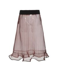 Marni Purple Hejira Stripe Organza Skirt