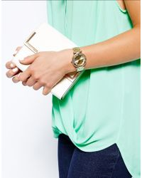 Lipsy - Metallic Gold Tone Bracelet Watch with Gold Tone Dial - Lyst
