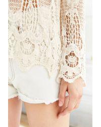 Ecote - White Eden Crochet Top - Lyst