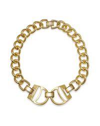 Lauren by Ralph Lauren Metallic 14k Goldplated Equestrian Stirrup Link Necklace
