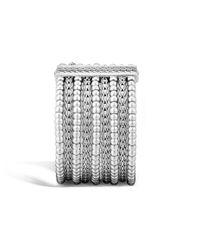 John Hardy - Metallic Classic Chain 39mm Multi Row Bracelet In Silver - Lyst