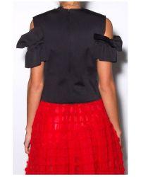 Simone Rocha Black Jersey Ruffle Top