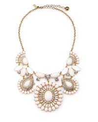 Kate Spade | White Capri Garden Cabochon Cluster Statement Necklace | Lyst