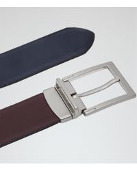 Reiss - Purple Brent Reversible Belt for Men - Lyst