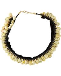 Isabel Marant | Black Seashell Necklace-Colorless | Lyst