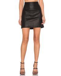 Bardot Black Snake Embossed Skirt